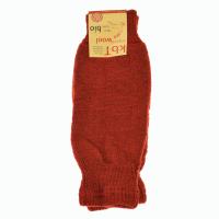 Hirsch Natur - benvarmere i uld - varm rød