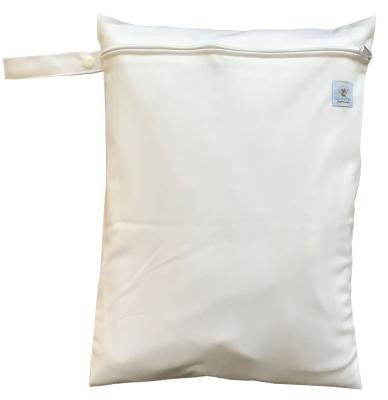 Wetbag med lynlås og strop - Hvid
