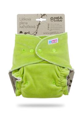 Petit Lulu - Natble - Grøn velour - Trykknapper