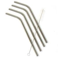Eco-Strawz - sugerør i rustfri stål - lange med knæk - smoothie 8mm - 4 stk