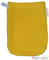 Popolini - vaskehandske i økologisk bomuld - barn - solgul - 3 stk.