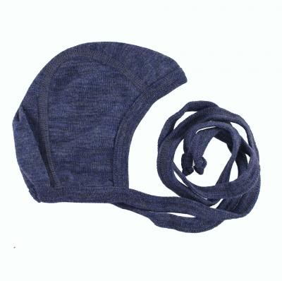 Engel babyhjelm i uld/silke - Blå Melange