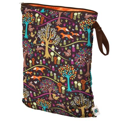 Planet Wise - wetbag med lynlås og strop - jewel wood