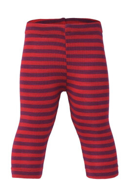 Engel's leggings i øko uld / silke - orkidee / rød