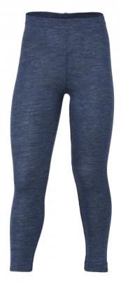 Engel's leggings i øko uld - blå melange