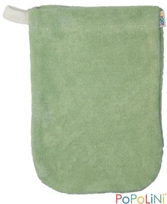 Popolini - vaskehandske - børnehånd - grøn - 3 stk.