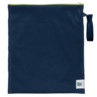 Planet Wise - lite wetbag MEDIUM med lynlås og strop - navy