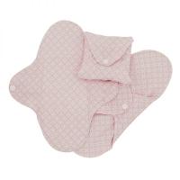 Imse Vimse økologisk stofbind normal - pink halo SLIM 3 pk