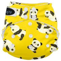 Imagine AIO 2.0 onesize - bambus - trykknapper - panda fold